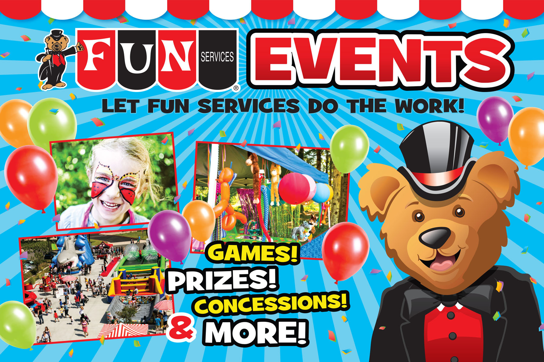 Fun Services Events, Party Rentals, Inflatables, Moonwalks