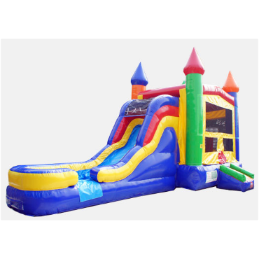 inflatable combo bounce house waterslide