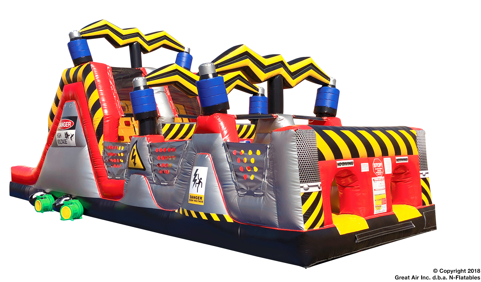 high voltage inflatable obstacle course
