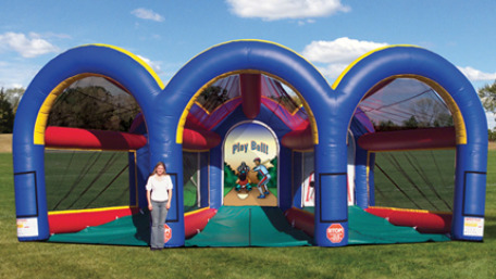 triple sports cage inflatable games