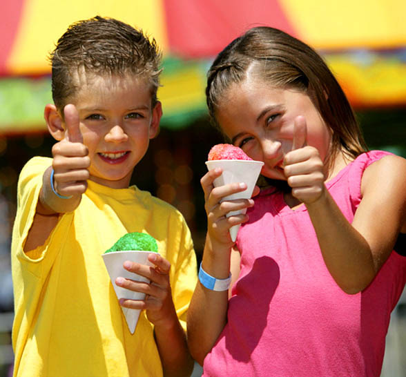 Concessions, Sno-kone, Children