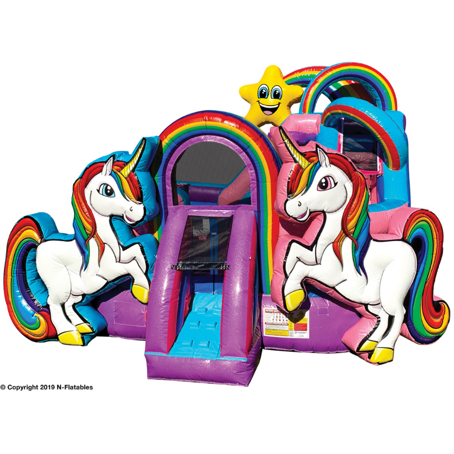 unicorn inflatable water slide rental