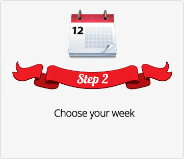 Step 2, Choose week for Holiday Gift Shop