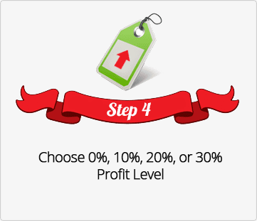 Step 4, Choose Profit level