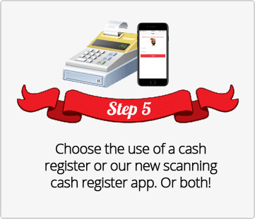 Step 5, Choose cash register, scanning cash register App