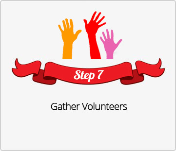 Step 7, Gather Volunteers for Santa Secret Shop