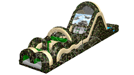 camo inflatable obstacle course