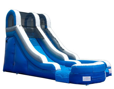 15' INFLATABLE BLUE WATERSLIDE