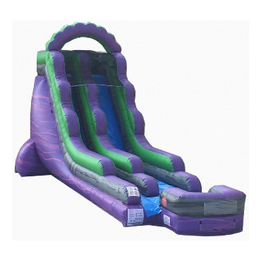 18' PURPLE WET DRY INFLATABLE SLIDE