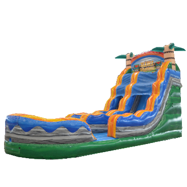 18' TIKI PLUNGE INFLATABLE WATER SLIDE