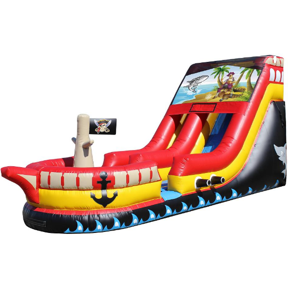 pirate ship waterslide rental