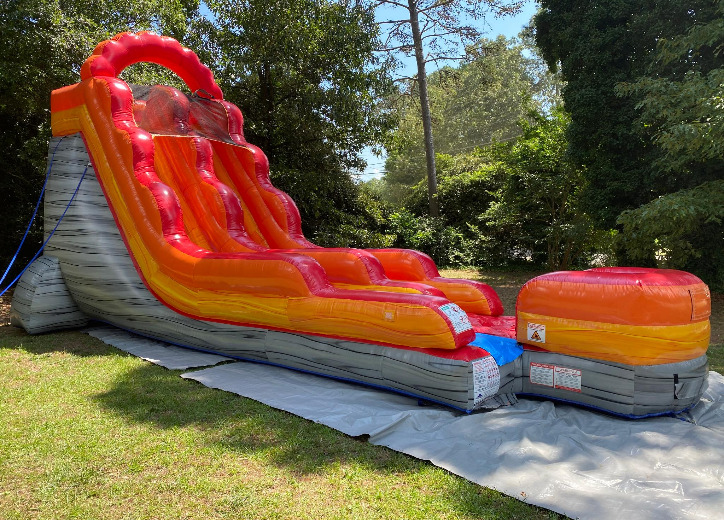 lava falls water slide inflatable