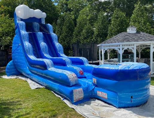 tidal wave inflatable wet dry water slide