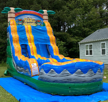 tiki plunge inflatable waterslide rental